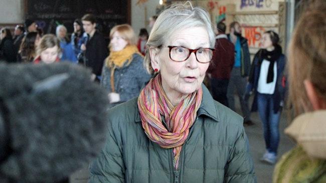Kulturrådets ordförande Kerstin Brunnberg i intervju med Kulturnyheterna.