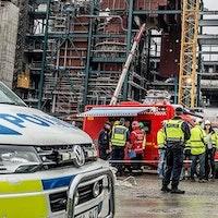 Arbetsplatsolycka vid Hjorthagen i Stockholm