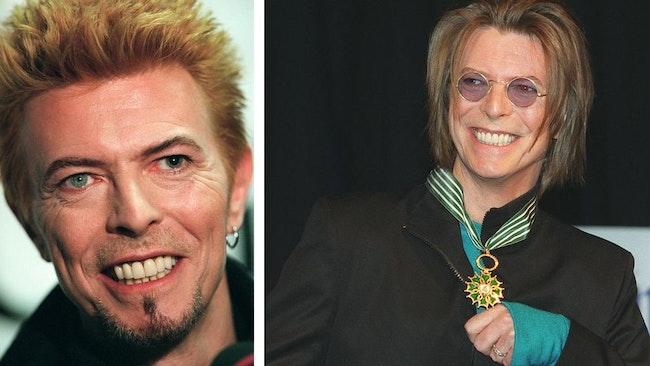 David Bowie har sportat många olika stilar genom åren. Så här såg han till exempel ut 1997 och 1999.