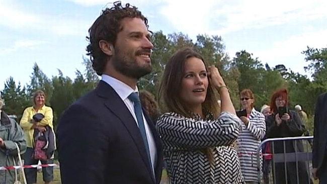 Prins Carl Philip och prinsessan Sofia på besök i Kristinehamn