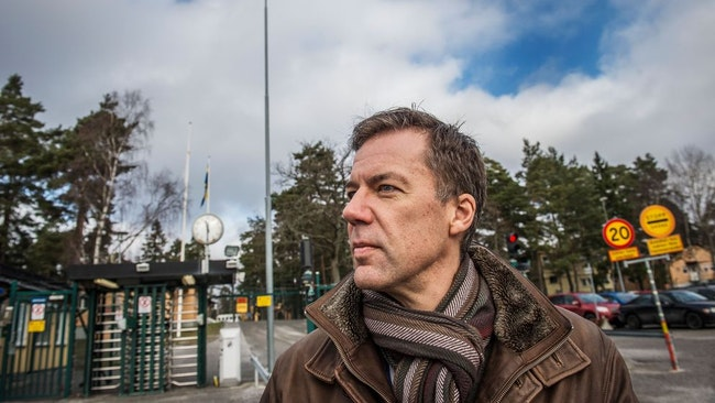 Fredrik Wallin, talesperson för Försvarets radioanstalt (FRA).