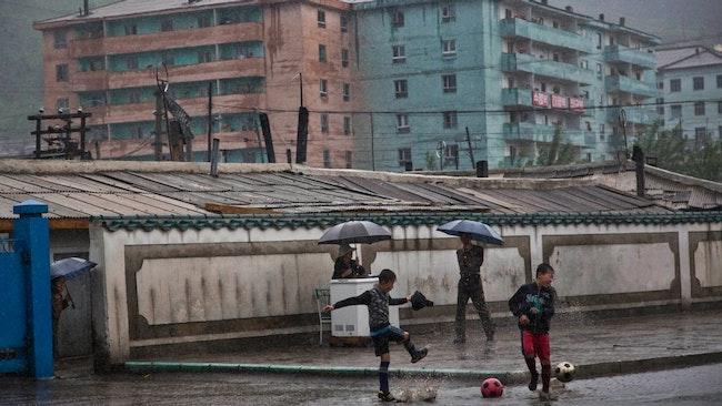 Fotbollsspelare i Hyesan.