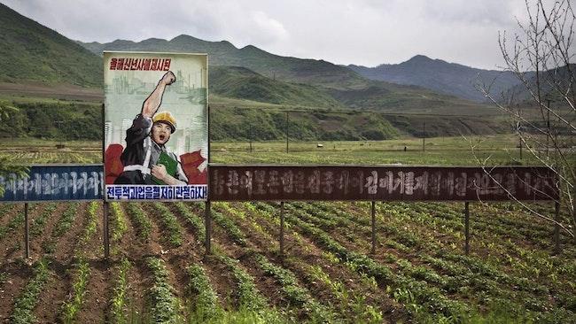 Nordkoreansk propaganda.