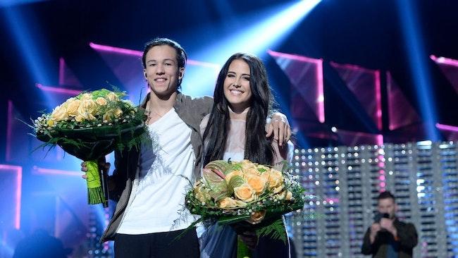 Frans och Molly Sandén har gått vidare till final.