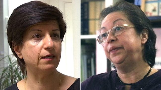Azam Qarai på Kvinnors nätverk och Lillian Karlsson, vice ordf Kvinnocenter Tensta.