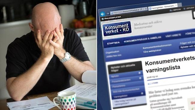 Konsumentverket har på sin hemsida lagt ut varningslistan över företag man ska passa sig för.