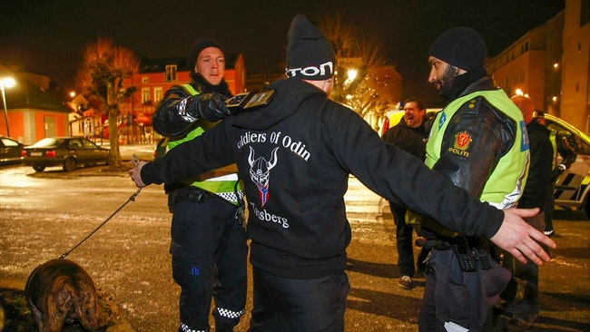 Högerextrema gruppen Soldiers of Odin.