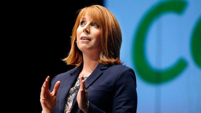 Annie Lööf under Centerns kommundagar i Karlstad i februari.