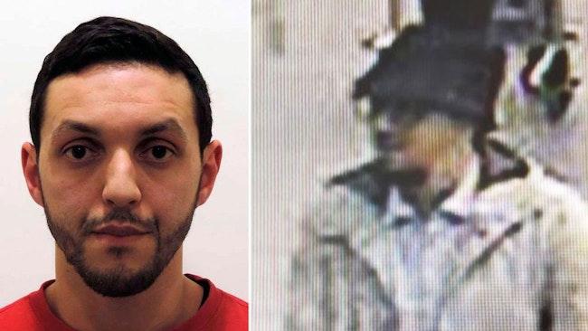 """Mohamed Abrini, """"mannen i hatten"""" vid dådet på Bryssels flygplats."""