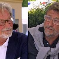 Fd näringsminister Björn Rosengren och SVT:s Janne Josefsson