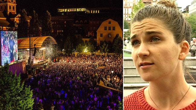Publikhav under We are Sthlm och arrangören Eva Widgren.