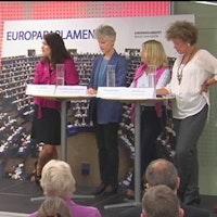 Markus Bonekamp, Ann Linde, Anna Maria Corazza Bildt och Marita Ulvskog.