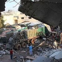 USA rasar efter hjälpkonvoj-attack