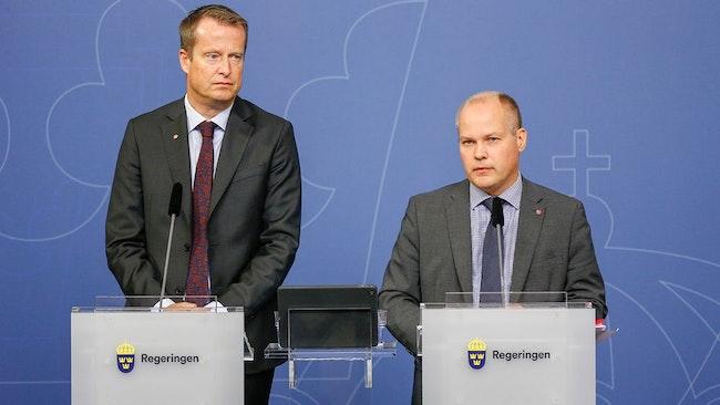 Inrikesminister Anders Ygeman och justitieminister Morgan Johansson.