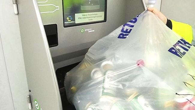 ny pantmaskin som kan sortera en hel säck själv