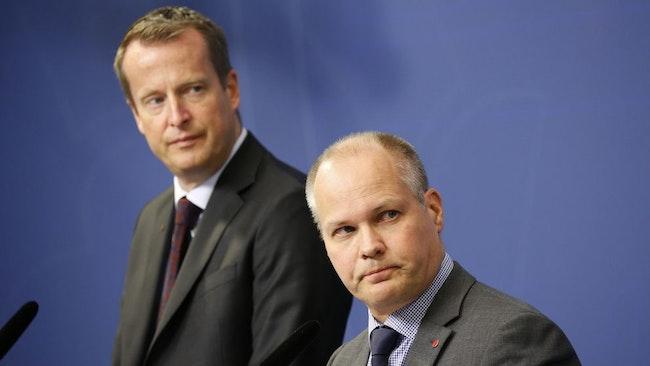 Inrikesminister Anders Ygeman (S) och justitie- och migrationsminister Morgan Johansson (S)