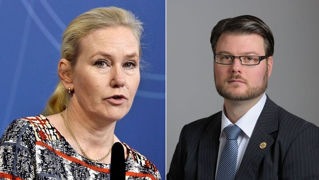 Anna Johansson (S) och Edward Riedl (M).