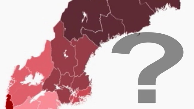 Karta över den nya regionindelningen