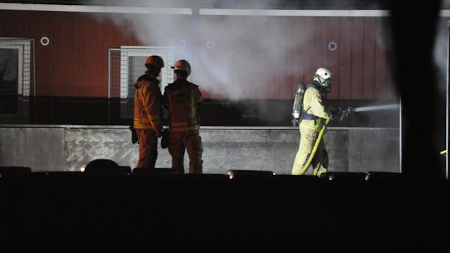 Räddningstjänsten vid branden