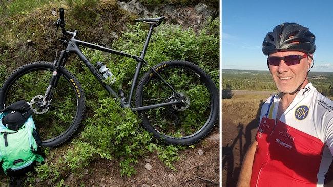 Magnus Jörnegren blev bestulen på sin cykel. Bilden på cykeln till vänster är en arkivbild.
