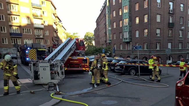 Lägenhetsbrand i Johanneberg