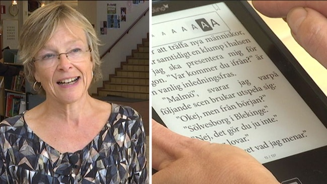 Äldre med svag syn ska lockas läsa e-böcker