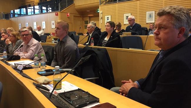 Moderaternas bänk i Örnsköldsviks fullmäktige.