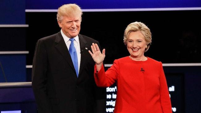 Donalt Trump och Hillary Clinton.