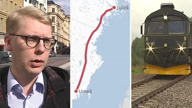 Kristoffer Tamson Norrbotniabanan och ett tåg