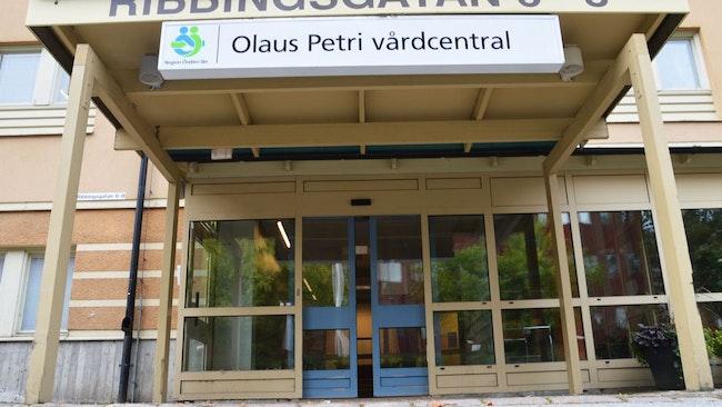 Olaus Petri vårdcentral i Örebro exteriört.