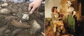 Puben i målningen är inte samma som arkeologerna har grävt fram.
