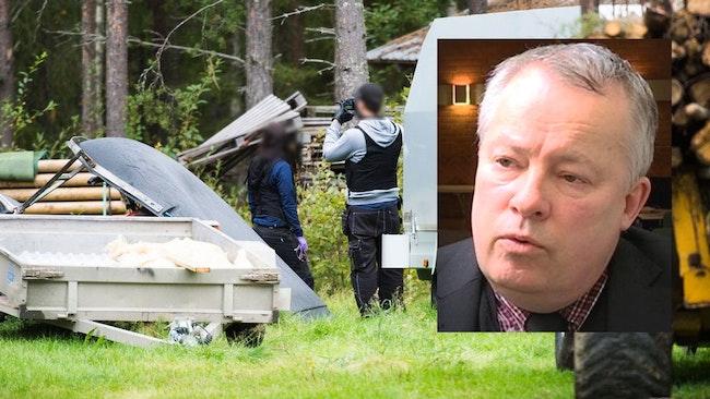 Polis gör tillslag mot misstänkt grovt jaktbrott, åklagare Christer B Jarlås infälld i bilden