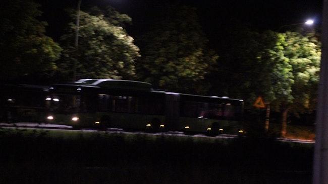 Bussen befann sig på Fålhagsleden när det misstänkta föremålet upptäcktes.