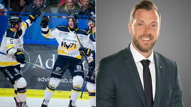 Hemmapremiär för HV71 ikväll. Johan Hult är redo att försvara hemmaborgen.