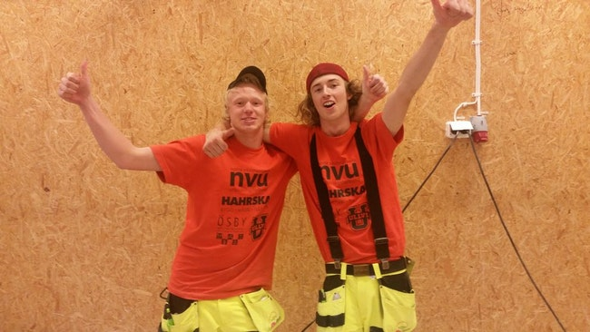 Bygg-VM vinnare Edvin Ringeborn och Filip Ericsson