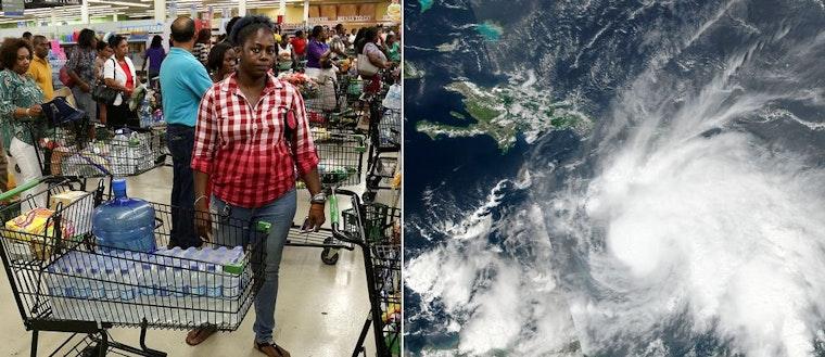 Stormen Matthew på väg mot Jamaica