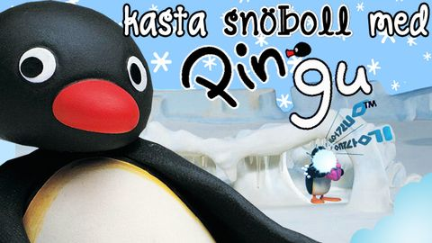 Kasta snöboll med Pingu!