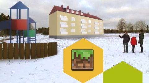 De planerar sitt område med Minecraft