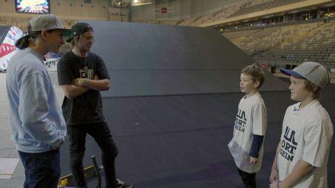 Love och Malte fick hänga med Nitro Circus-stjärnan Ryan Williams.