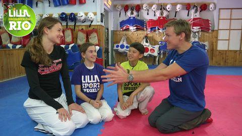 Nikita Glasnovic med Maja, Zacke och Aron.