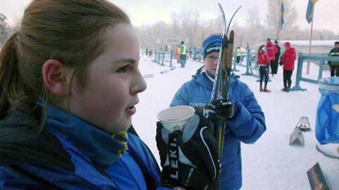 Elin och Jennie efter tävlingen