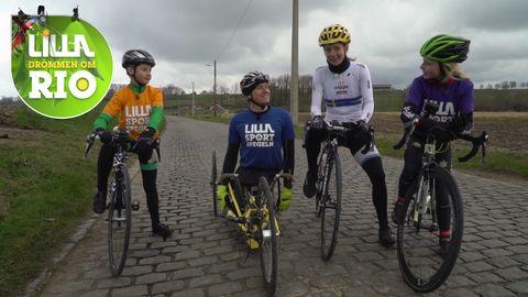 Emma Johansson med Lilla-gänget på besök i Belgien.