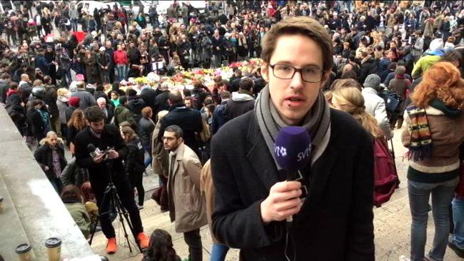 Lilla Aktuellts Mathias på plats i Bryssel