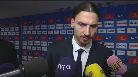 Zlatan intervjuas av SVT