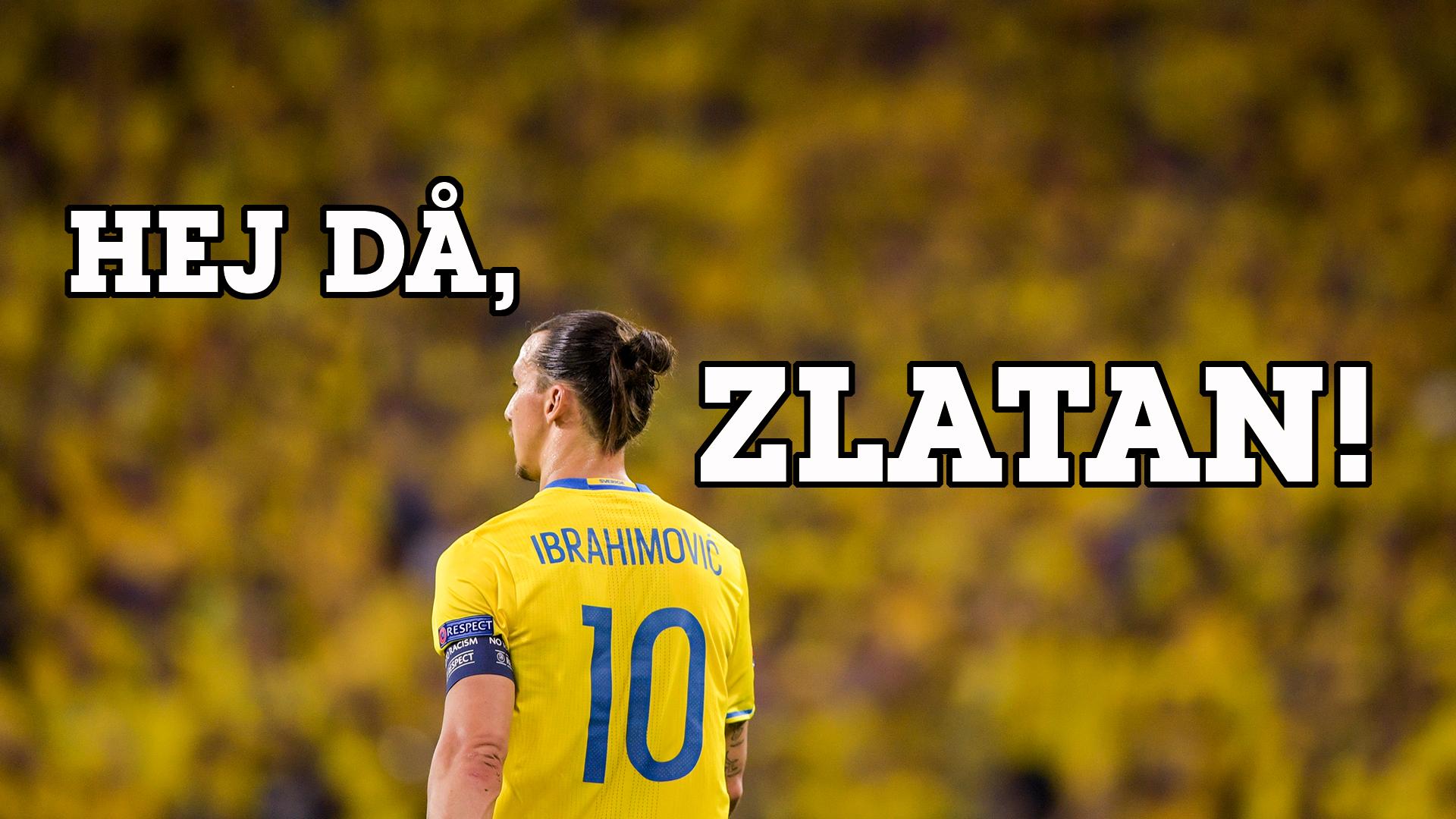 Zlatan framför den guldklädda publiken på EM