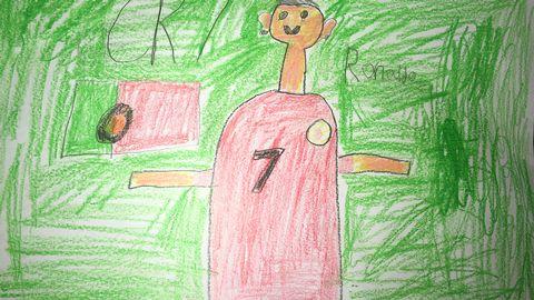 Cristiano Ronaldo ritad av Oliver Engström, 9.