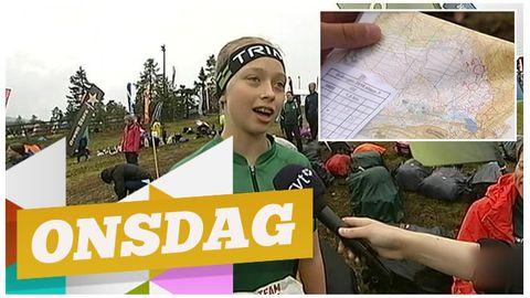 Flicka från O-ringen pratar med reporter.