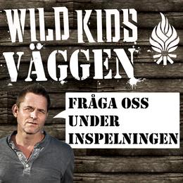 Skriv och läs på wild kids-väggen!