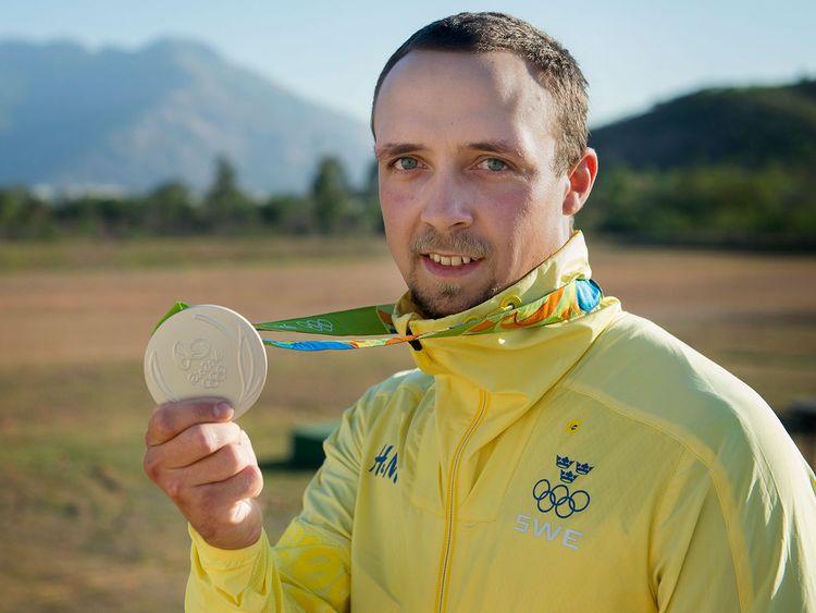 Marcus Svensson med silvermedaljen
