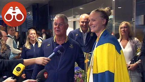 Sarah Sjöström på Arlanda